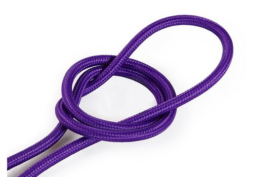 Fabric Cord Purple - round, solid