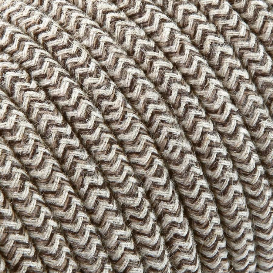 Strijkijzersnoer Zand & Bruin - rond, linnen
