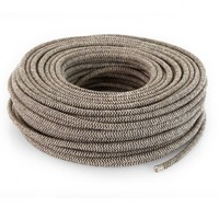 thumb-Fabric Cord Sand & Brown - round, linen-3