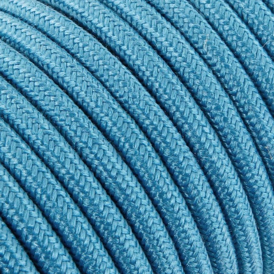 Strijkijzersnoer Blauw - rond, linnen
