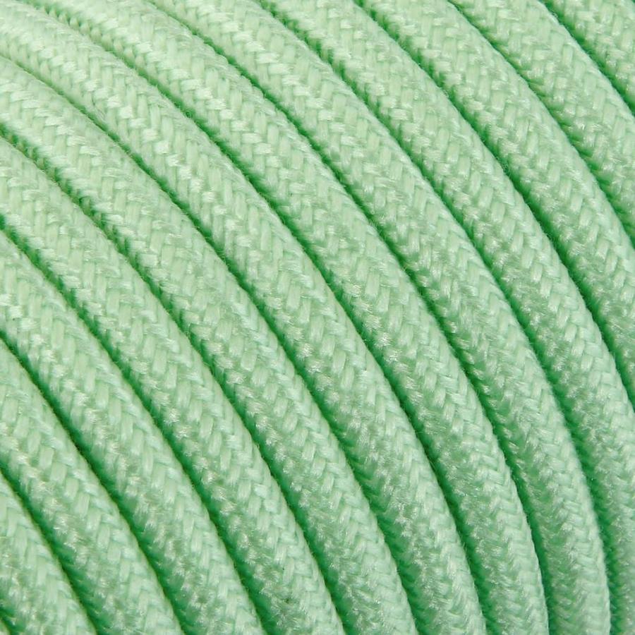 Fabric Cord Light Green - round, linen-2