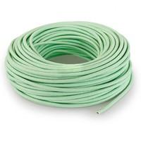 thumb-Fabric Cord Light Green - round, linen-3