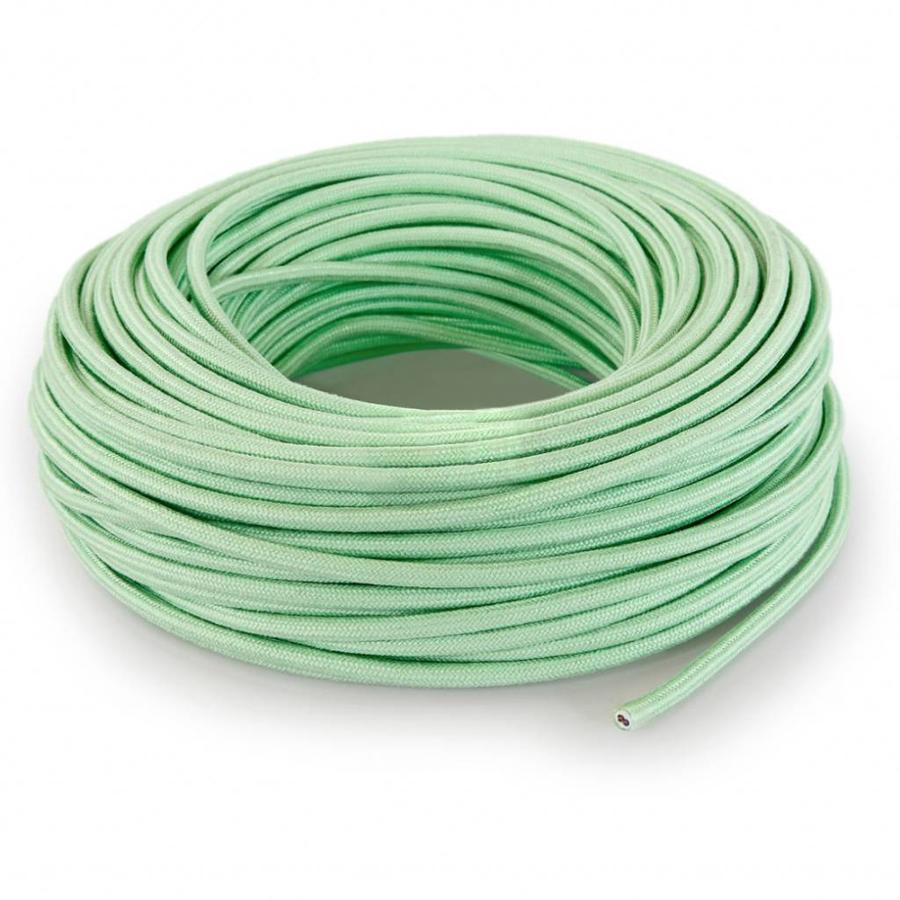 Fabric Cord Light Green - round, linen-3