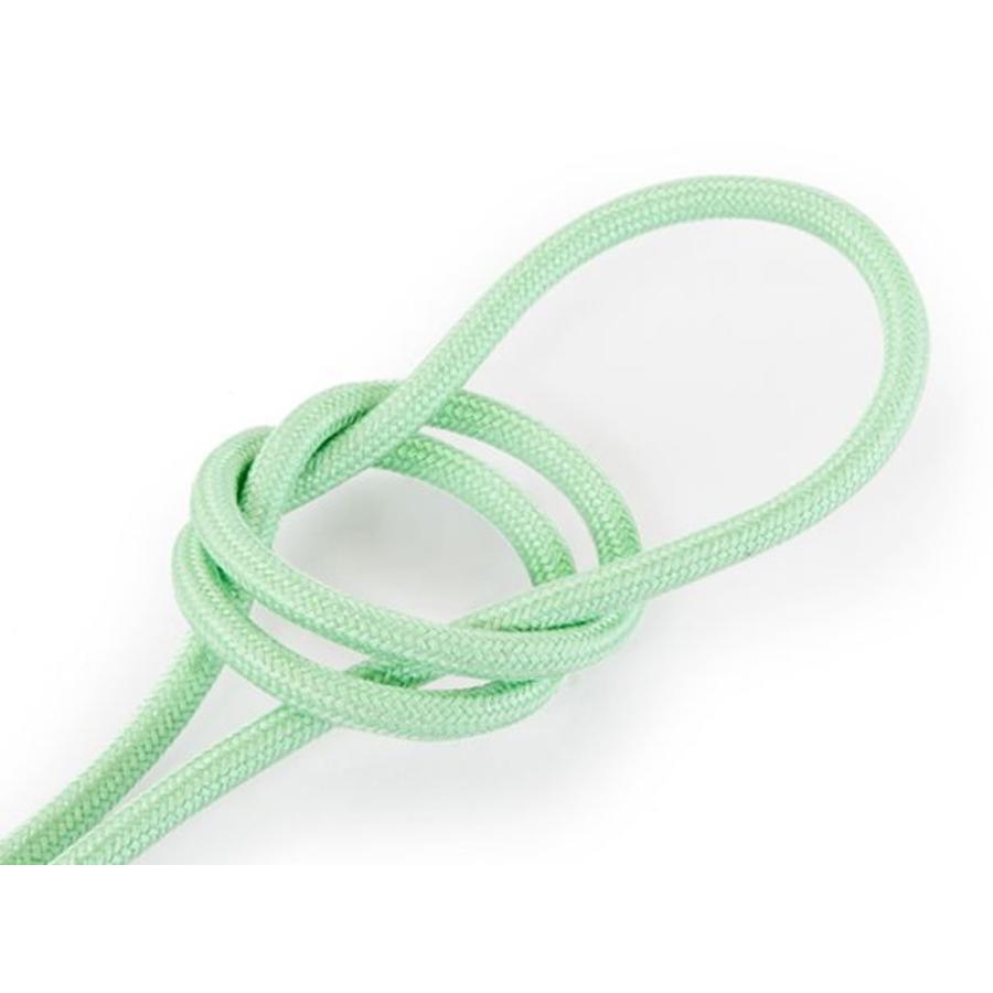 Fabric Cord Light Green - round, linen-1