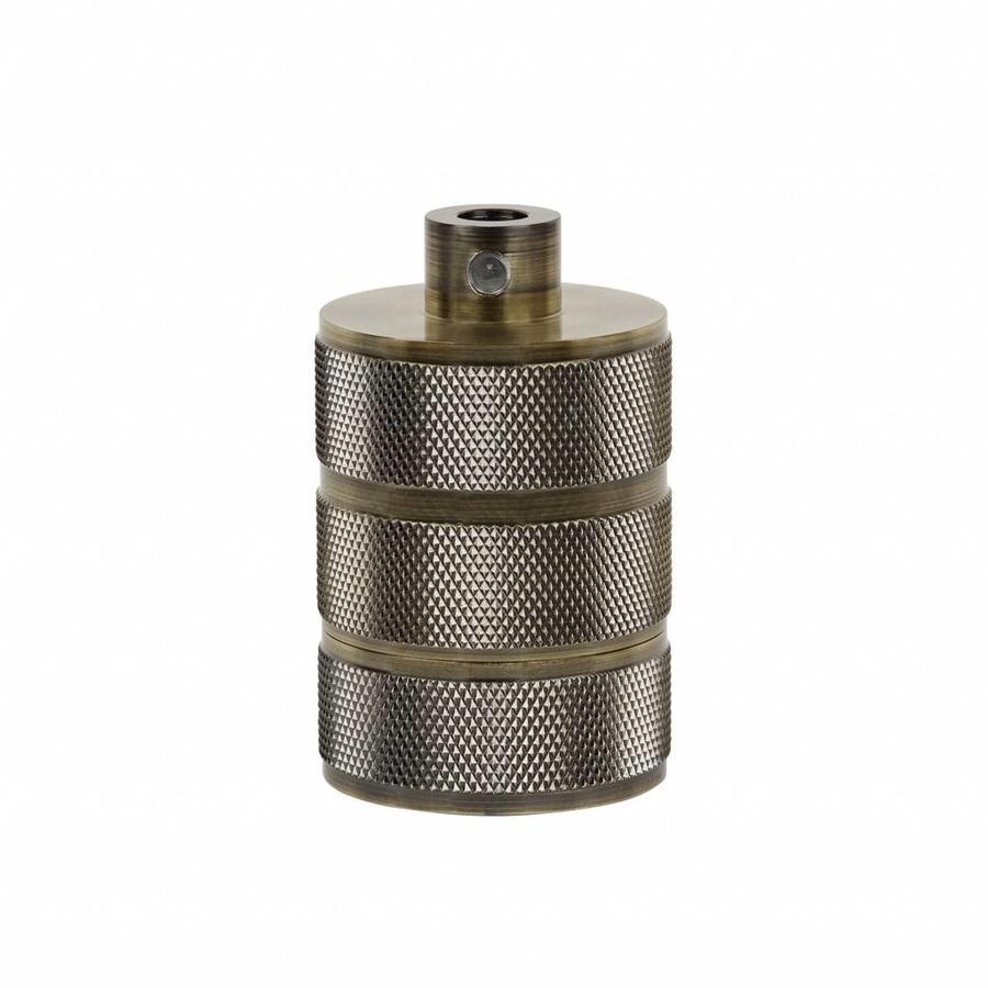 Fitting 'Hallvor' metaal Antiek Brons E27-1