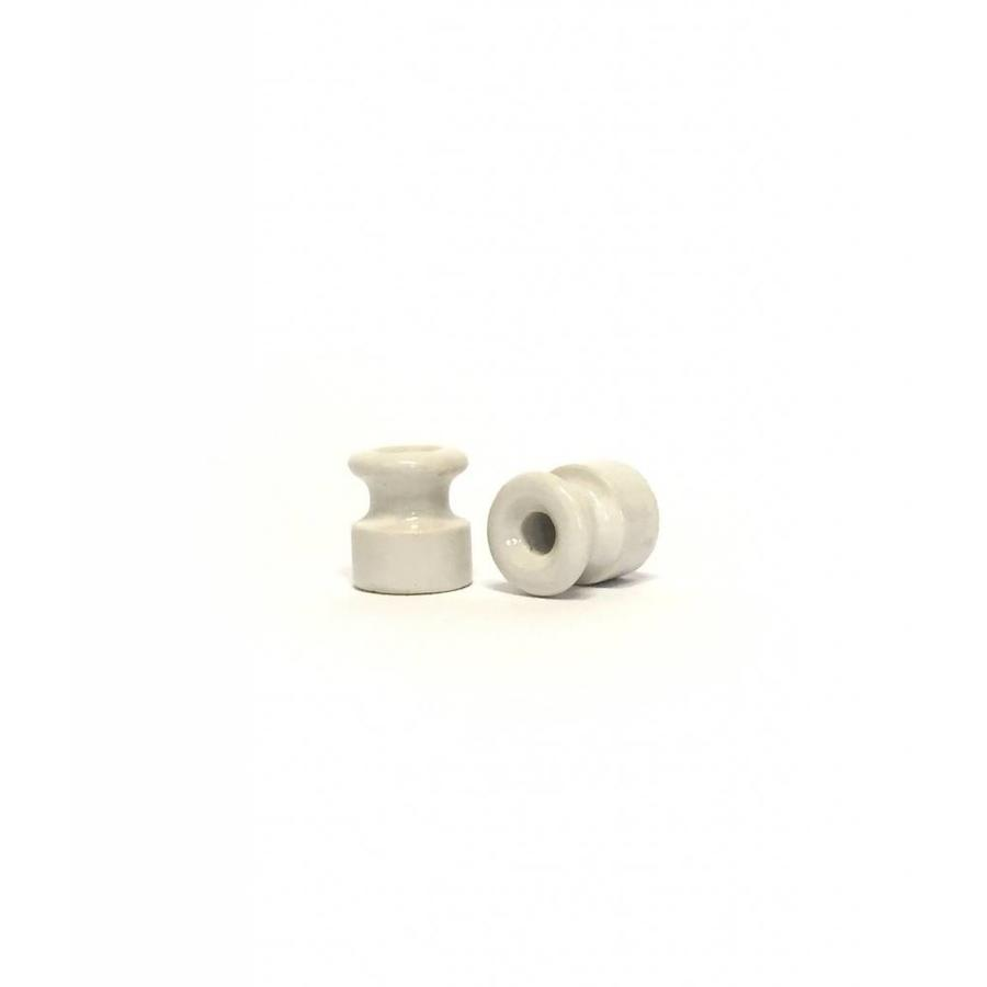 Porcelain insulator Ø 18 mm for wall wiring with twisted cord