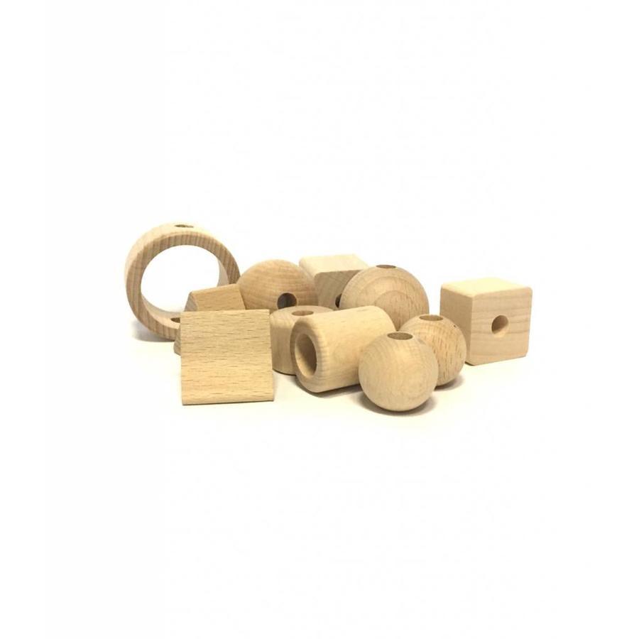 Kraal hout naturel cilinder groot