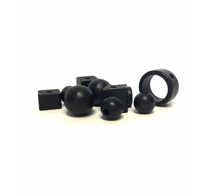 Pearl wood black ring