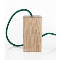 Wooden Lamp Holder 'Woody' Square large E27