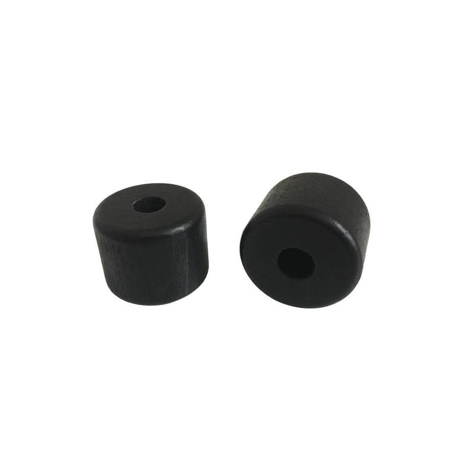 Kraal hout zwart cilinder klein-2