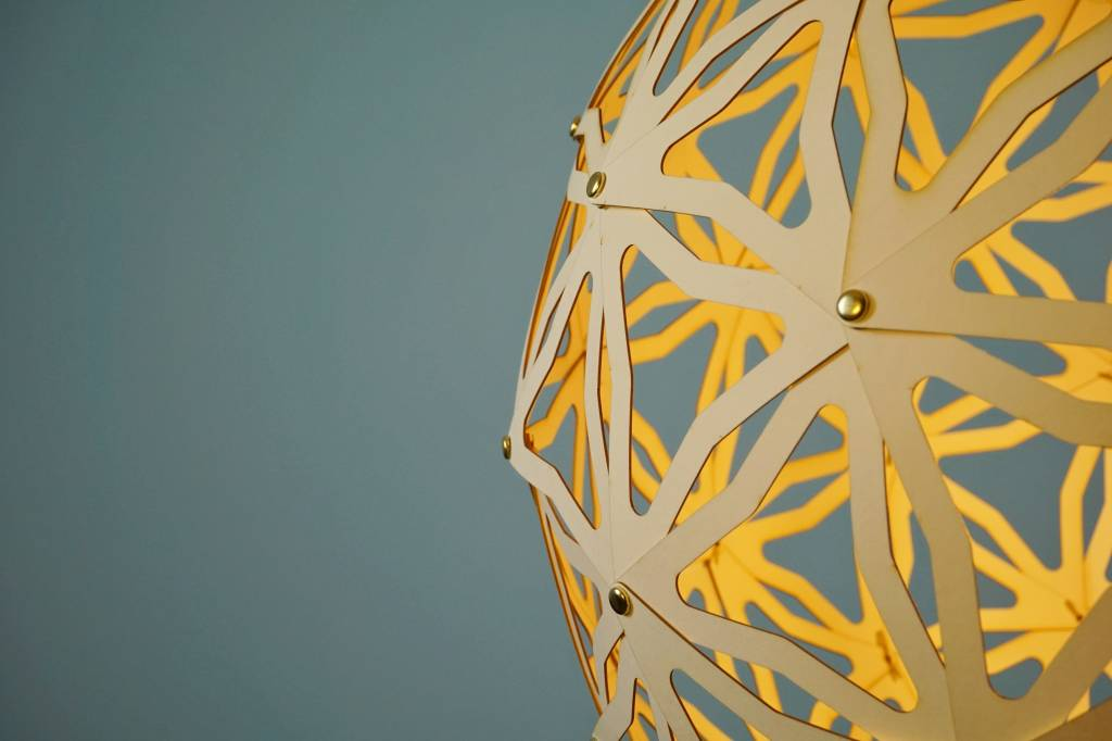 Standaard Geometrische kartonnen bollamp Nagoya