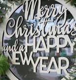 Krans Merry Christmas and a Happy New Year