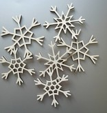 set van 6 grote sneeuwvlokken