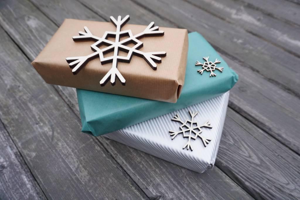 set van 12 medium sneeuwvlokken