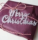 Cadeaulabel 'Merry Christmas' acrylaat