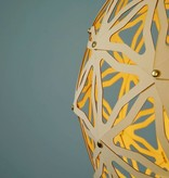 Standaard Geometrische kartonnen bollamp Nagoya Bouwpakket