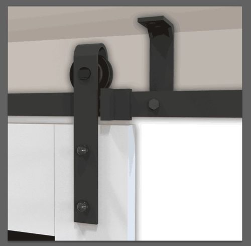 Plafond montage schuifdeur systeem beugelset