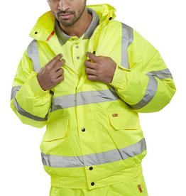 B Seen Hi Vis Bomber Jacket