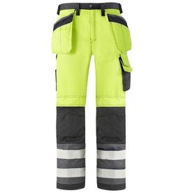 Snickers Workwear Hi Vis Holster Pocket Trousers