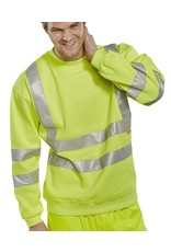 B Seen B Seen Hi Vis Safety Sweatshirt