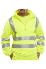 B Seen B Seen Hi Vis Zipped Sweatshirt
