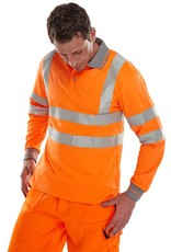 Super Touch Long Sleeve Hi Visibility Polo