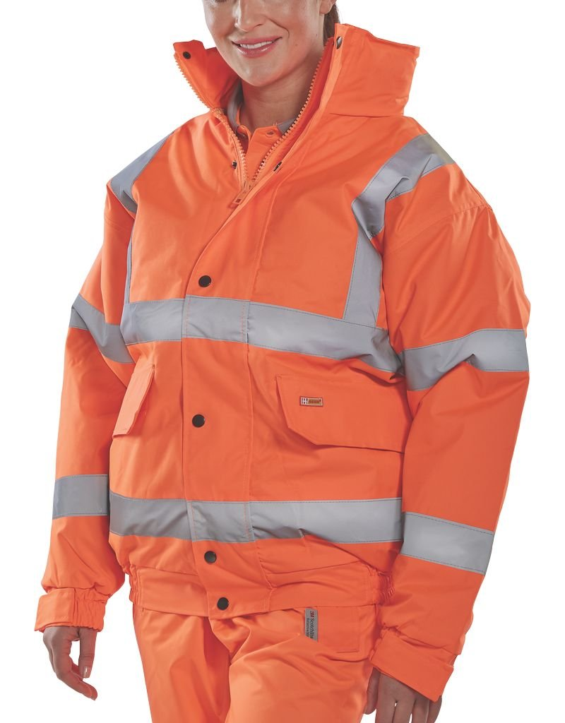 B Seen PU Coated Hi Vis Waterproof Jacket