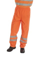 B Seen Hi Vis PU Waterproof Trousers