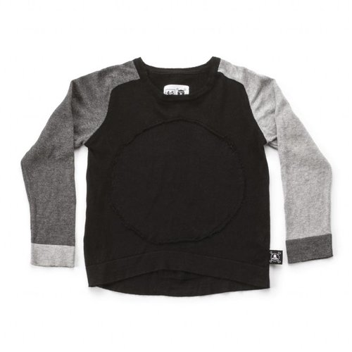 NUNUNU Circle Patch Light Knit Sweater