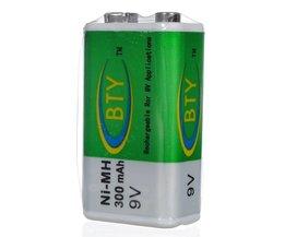 Bateria recarregável Ni-MH BTY 9V