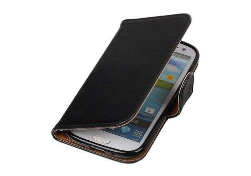 Pull Up TPU PU Leder Bookstyle voor Galaxy S3 i9300 Zwart