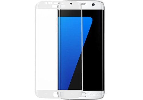 Tempered Glass voor Galaxy S7 Edge G935F Wit
