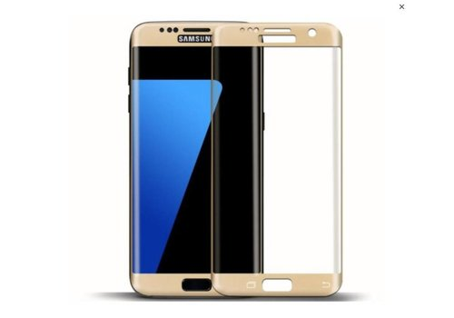 Tempered Glass voor Galaxy S7 Edge G935F Goud