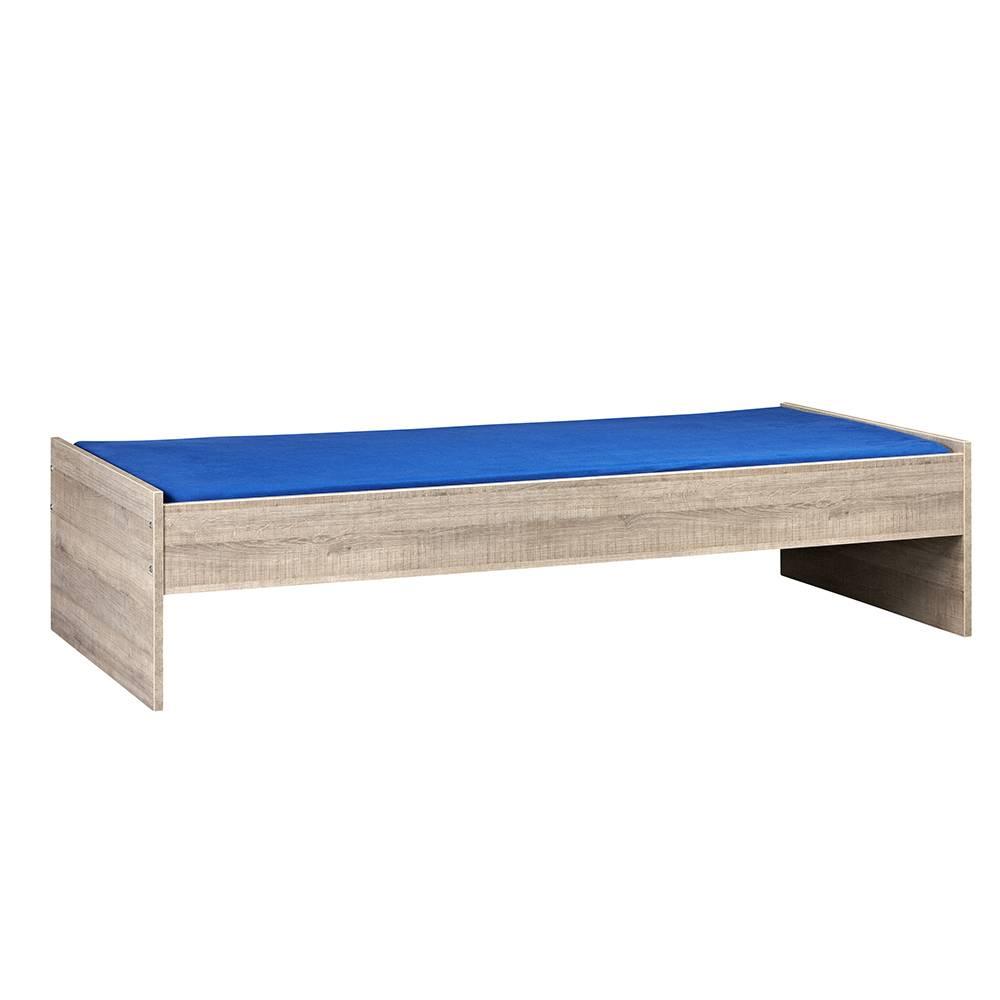 Bedframe 90x210 cm - Donker Grijs Hout – Budel
