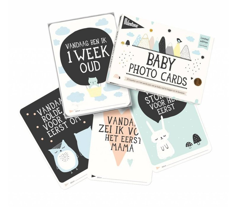 MILESTONE BABY CARDS 'OVER THE MOON'