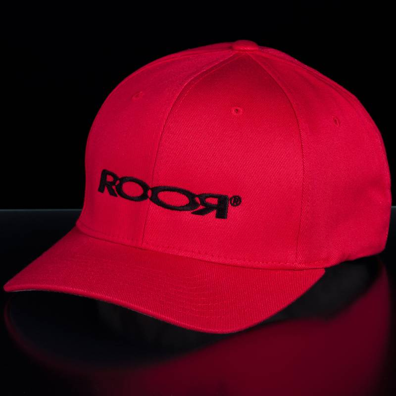 ROOR Germany ROOR flexfit cap red/black large-xlarge