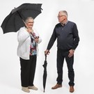 Paraplu/wandelstok combinatie zwart