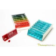 Boîte à  médicaments pour 7 jours, 5 compartiments par jour