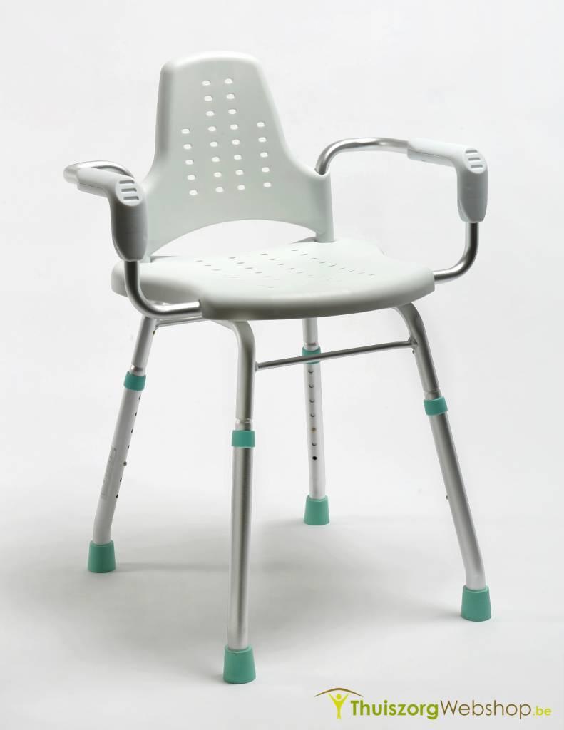 chaise de douche travail prima modular avec accoudoirs et dossier soins domicile webshop. Black Bedroom Furniture Sets. Home Design Ideas