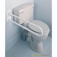 Opklapbare toiletbeugel met/zonder steunvoet- wit