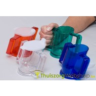 Handycup® slanted cup with 2 drinking spouts