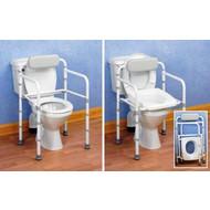 Cadre de toilette avec dossier Uniframe, repliable