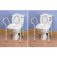 Toiletkader met zitting en wijde armsteunen