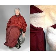 Protection jambes et bas du corps doublée pour chaise roulante