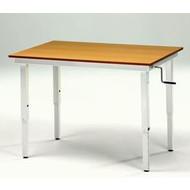 Table de travail pour position assise ou debout, réglable en hauteur DosDos