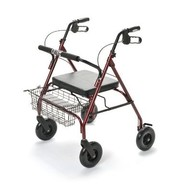 Rollator met 4 wielen voor zwaardere personen, vouwbaar XXL