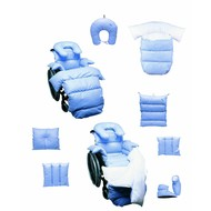 Revêtement anti-escarre intégrale pour chaise roulante, en fibres creuses, housse en coton A18