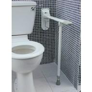 Barre d'appui pour toilette avec support au sol