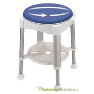 Siège de douche avec assise ronde pivotante