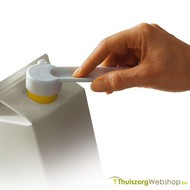 Opener voor brikverpakkingen met schroefdop
